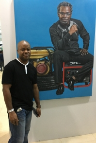 Art by Jeremiah Quarshie 2 with Mr. Papishe himself