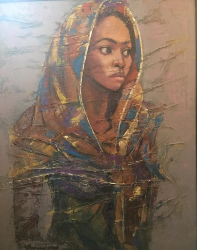 Lady with a Shawl by Joshua Nmesirionye