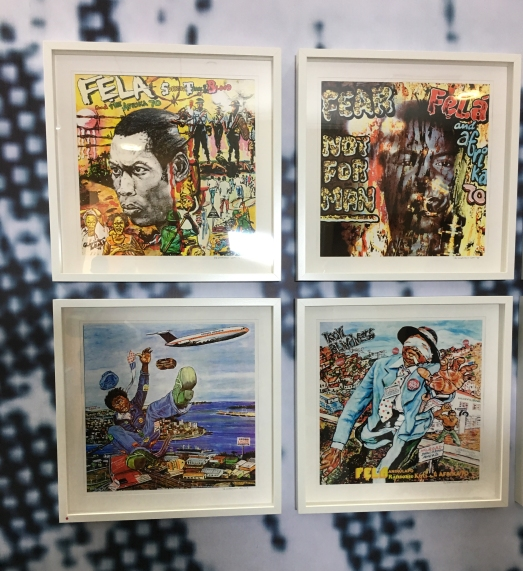Lemi Ghariokwu's iconic record sleeves, designed for Fela Kuti